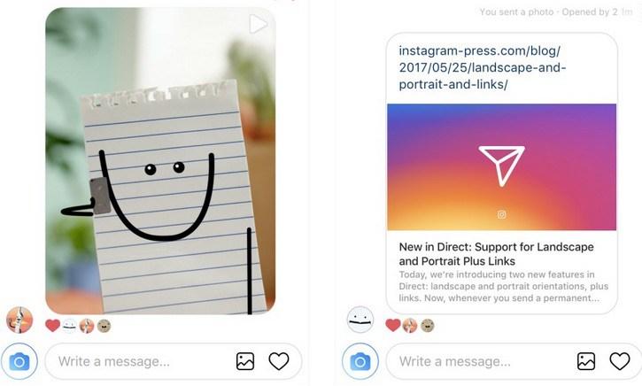 instagram direct link paylaşma özelliği