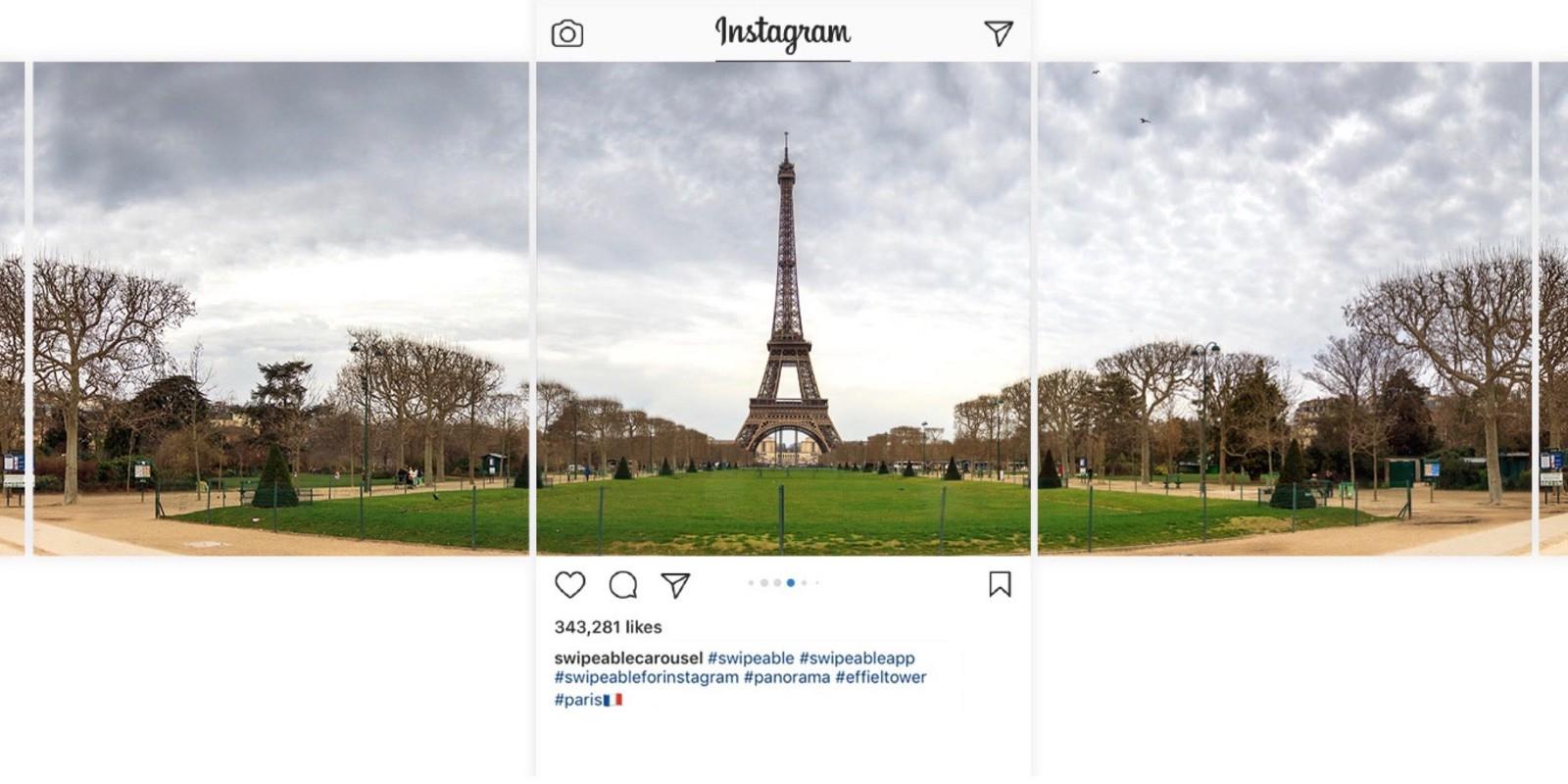 Instagram Paylaşımları için Nasıl Panorama Carousel Oluşturulur?